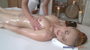 Oiled up lovers finger fuck their sweet pussies