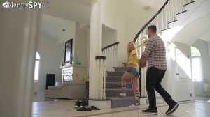 Naughty nanny Kenzie Reeves gets fucked real hard