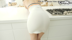 Kitchen creampie for a skinny blond haired stepsister